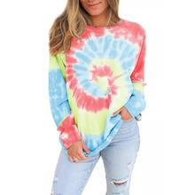 Женский пуловер с длинным рукавом свободный свитер градиентом