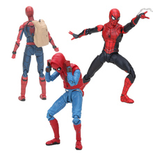 цена на the avengers Spider Man Homecoming Spiderman Home Made Suit Ver. PVC Action Figure Collectible Model Toy gift