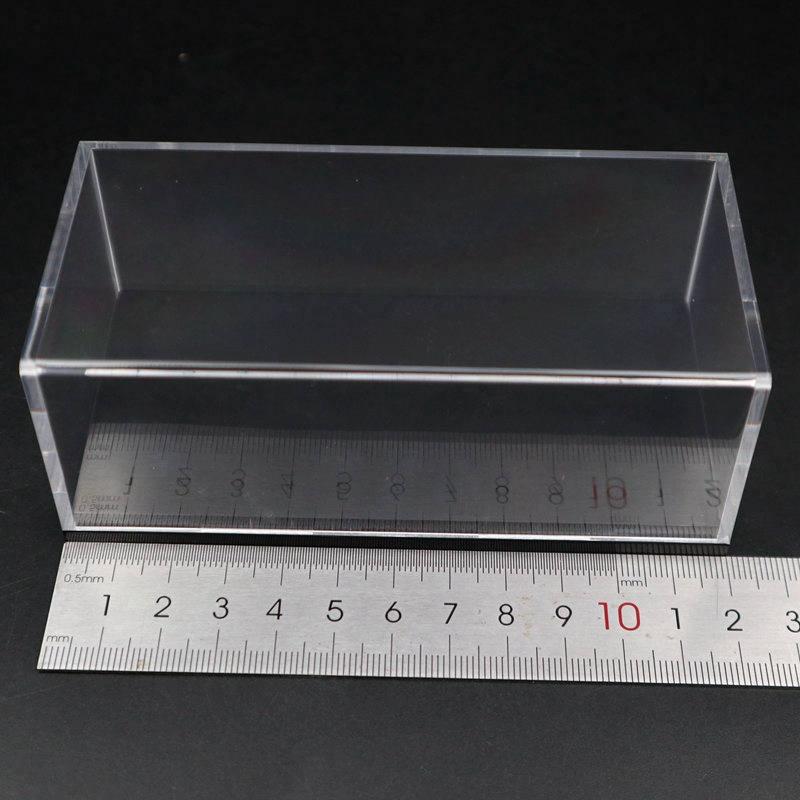 Modelo de carro acrílico caixa exibição transparente dustproof com base preta 1/64 1/43 1/32 1/18 1/24