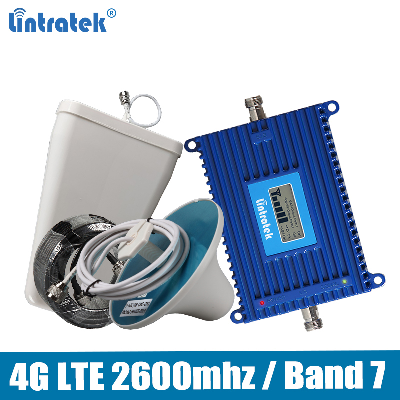 Lintratek Repeater 4G 2600MHz 70dB AGC Mobile Signal Booster Band 7 LTE 2600MHz Repeater Amplifier KW20L-LTE-26 ретранслятор 4G