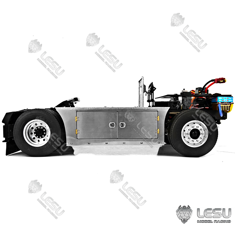 4x4 Scania Metal Chassis For 1/14 TAMIYA RC Tractor Truck Motor Light System