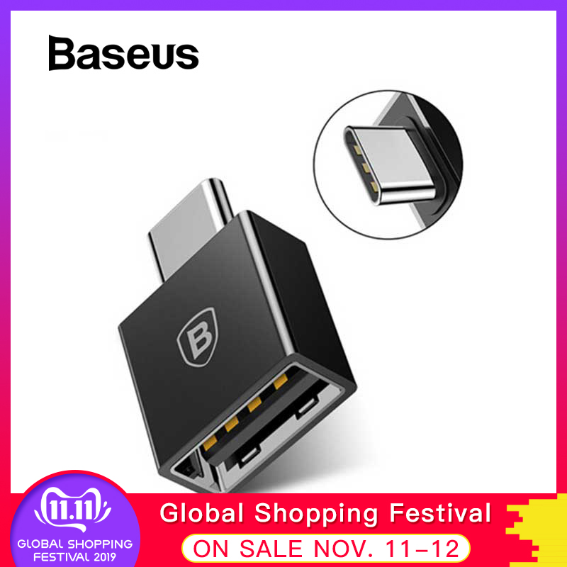 Baseus Type C Male To USB Female Adapter Coverter For Samsung Galaxy S9 S8 Plus Note 8 OTG USB C Adapter For One Plus 5t Nokia 8