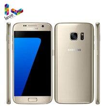Samsung-teléfono inteligente Galaxy S7 G930F/G930A/G930V, teléfono móvil libre con pantalla de 5,1 pulgadas, 32GB ROM, cámara de 12MP, Quad Core, NFC, reconocimiento de huella dactilar, 4G LTE, Android