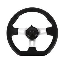 270mm Universal For Go Kart Replacement Accessories PU Foam Steering Wheel Interior Vehicle With Holes Durable Hardware 3 Spokes