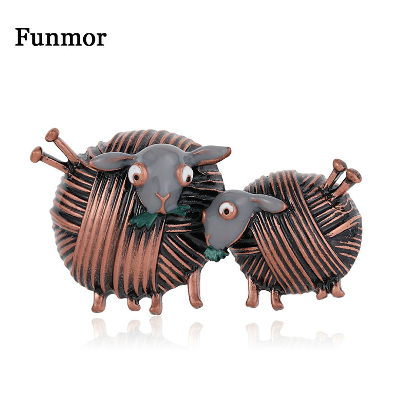 Funmor Винтажная брошь из овечьей шерсти, милые заколки с животными, эмаль, ювелирные изделия для женщин и девочек, Повседневные Вечерние украшения, аксессуары для подарка|Броши|   | АлиЭкспресс