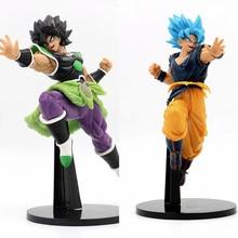 цена на japanese Anime Dragon Ball Z Goku Broly Action Figure Toys anime Dragon Ball Vegeta collectible model toys kids Christmas Gift