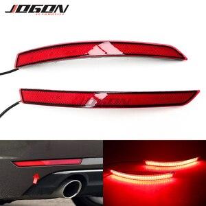 Image 1 - For AUDI A4 B9 8W 2017 2018 2019 2020 LED Red Lens Rear Bumper Reflector Brake Parking Lights Brake Sequential Lamp