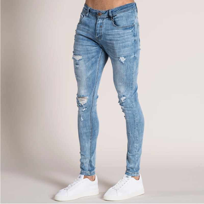 jeans for men slim fit pants classic 2019 jeans male denim jeans Designer Trousers Casual skinny Straight Elasticity pants S-5XL