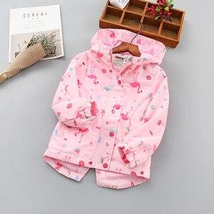 Image 4 - 패션 방수 후드 인쇄 어린이 코트 따뜻한 양 털 아기 소녀 자 켓 어린이 겉옷 아이 의상 90 150cm