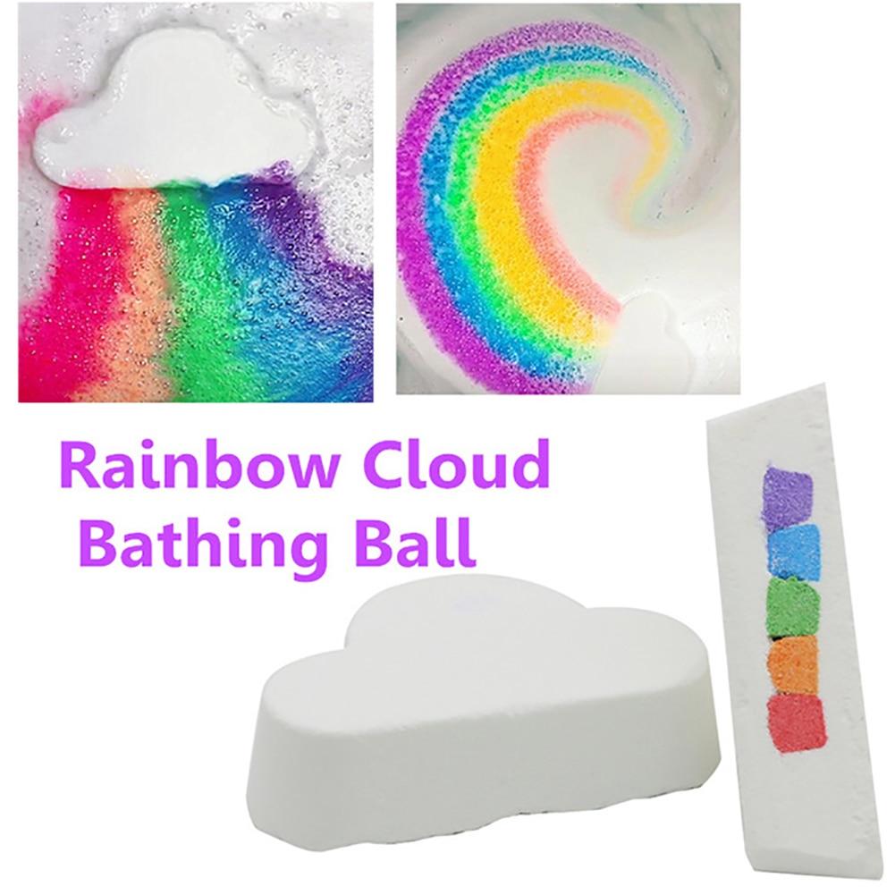 1PC Natural Bath Bombs Gift Rainbow Cloud Bath Luxury Bubble Fizzies Relaxation Spa Bath Bomb Dry Skin Moisturizer Sweet Gift