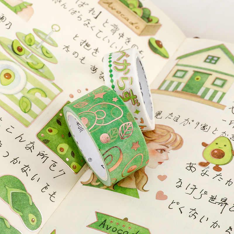 Mignon avocat fille série Washi bande Scrapbook bricolage ruban de masquage étiquette autocollant école papeterie magasin balle Journal fournitures