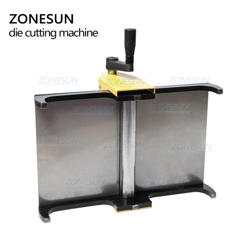 Image 3 - ZONESUN Manual Leather Die Cutting Machine Handmade Earring Die Cuts Embossing Machine For Punching Clicker Die Steel Rule DiePunching   -