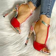 Summer Women Pumps Printing High Heels Shoes Women Extreme H