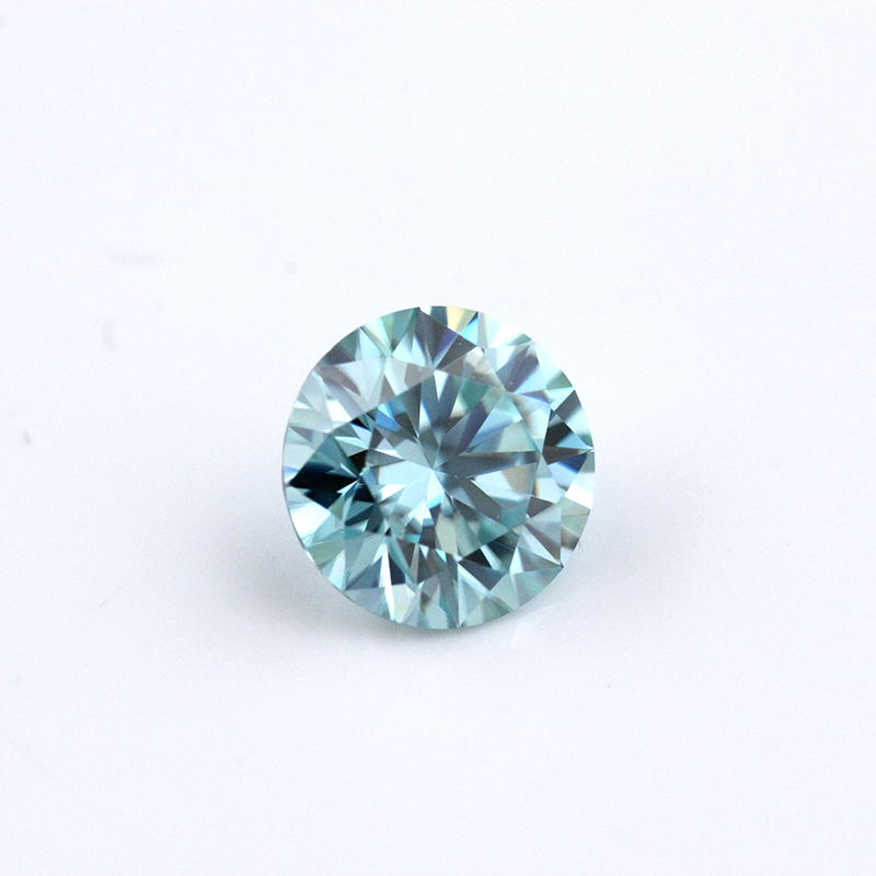 Beautiful 1ct Blue Moissanite VVS Test Positive 6.5mm Loose Moissanite Stone For Jewelry