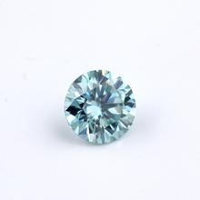 Piękny 1ct niebieski Moissanite VVS Test pozytywny 6 5mm luźny moissanit kamień na biżuterię najlepsza cena na 618 promocja tanie tanio Cheester Gems GDTC WHITE VVS1 Excellent Grzywny Round Brilliant Cut Jewerly marking 9 25mohs