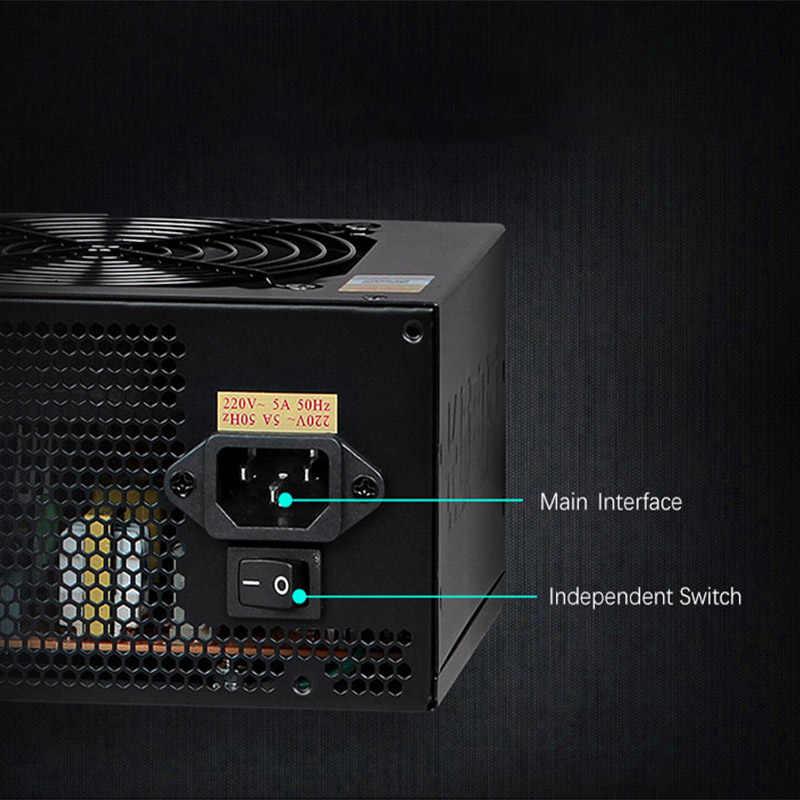 Great Wall zasilanie 600W źródło 80 Plus brąz 120 PSU mm wentylator 12V zasilacze dla PC aktywny PFC zasilacz do komputera urządzenie