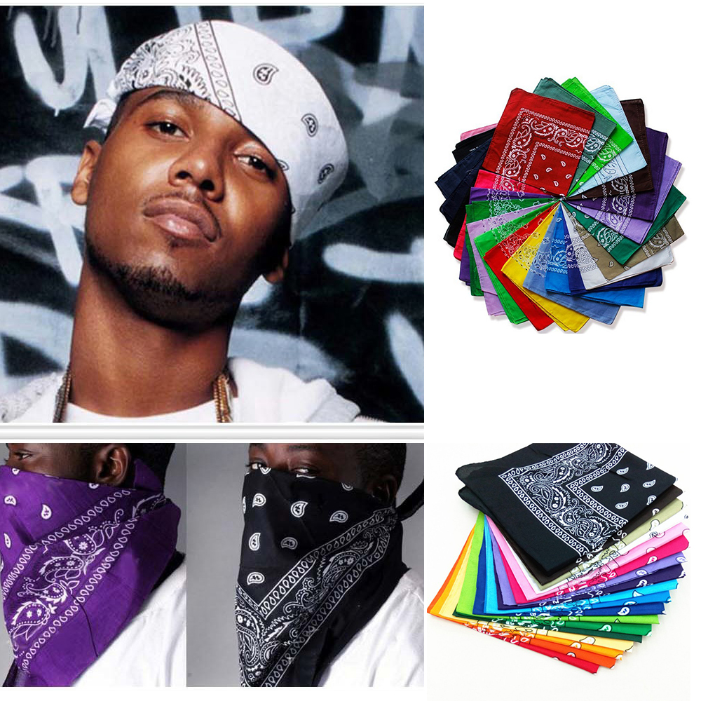 1PC Newest/Polyester Cotton Hip-hop Bandanas For Male Female Head Scarf Scarves Wristband Vintage Pocket Towel Hot Selling