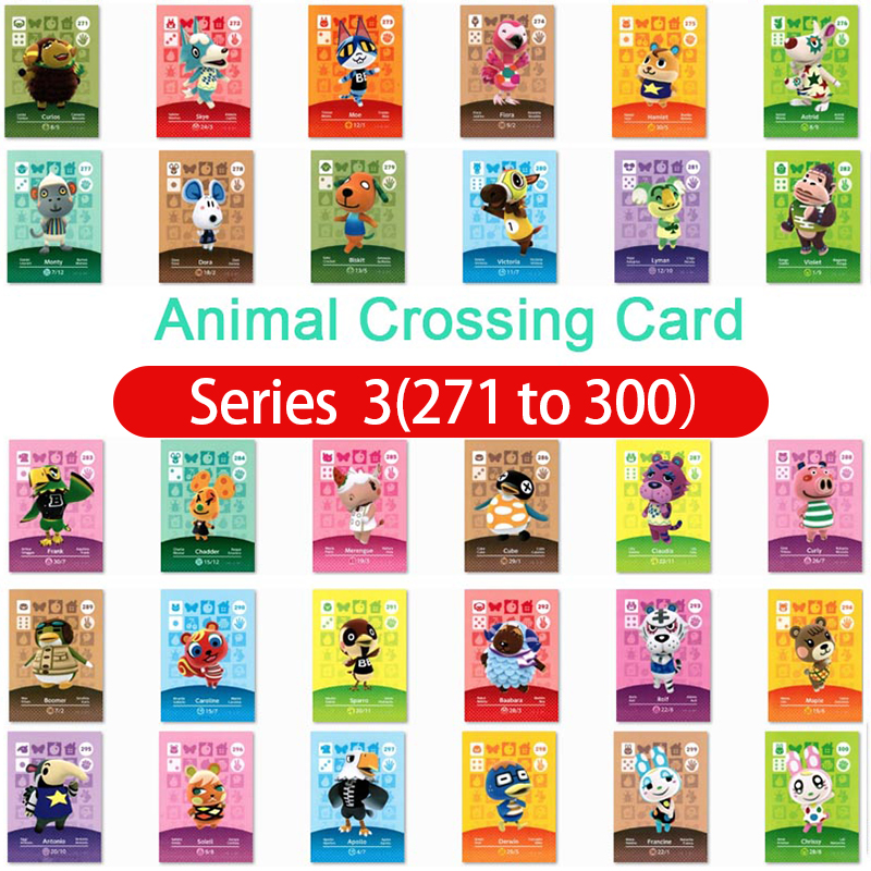 Animal Crossing Amiibo Card Amiibo Card Animal Crossing Series 3 Nfc Card 271 To 300 Work For Ns Games Fast Shipping