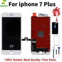 100% teste de tela sensível ao toque para iphone 7 plus tela lcd substituição tela qualidade 7 plus telefone lcd preto branco cores