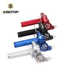 ZSDTRP CNC Aluminum Motorcycle 22mm Throttle Grips Settle Twist Gas Throttle Handle For Kawasaki Yamaha Dirt Pit Bike Universal