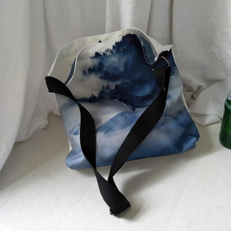 Saco de Ombro da lona das mulheres Das Senhoras impressão Dos Desenhos Animados Sacos de Compras Feminino Eco Algodão Pano Bolsa Dobrável de Lona Grandes sacos de Capacidade
