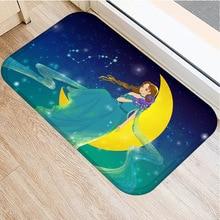森アニマル柄ノンスリップ寝室装飾カーペット台所の床リビングルームのフロアマット浴室ノンスリップドアマット40x60cm。