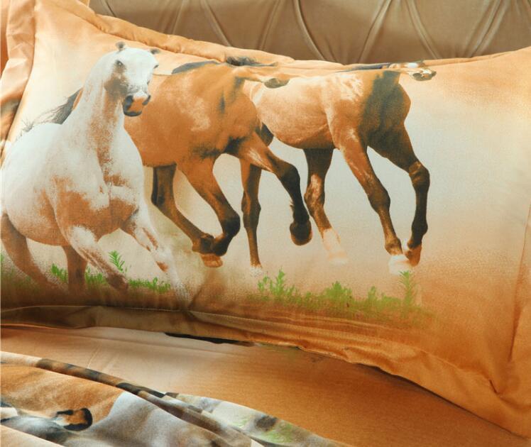 Lifelike correndo impressão cavalo capa de edredão