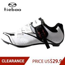 Road-Bike-Shoes Bicycle TIEBAO Self-Locking Clearance Sports Women EU Breathable 37-47