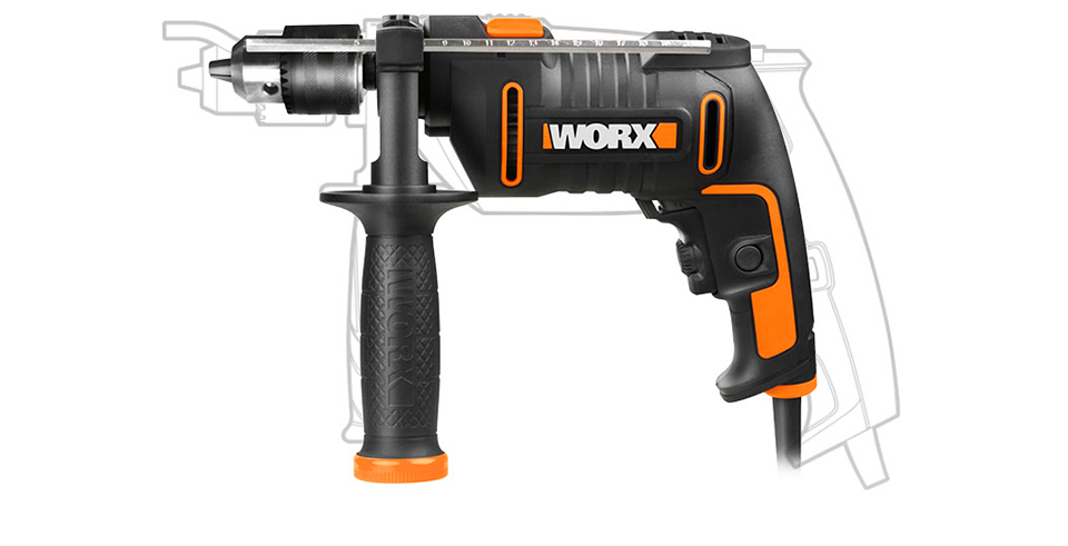 Worx 600W Impact Drill WX317.2 Electric Drilling Driver 13mm Variable-speed Screwdriver Household Perforator Home DIY Power Tool With injection Tool box