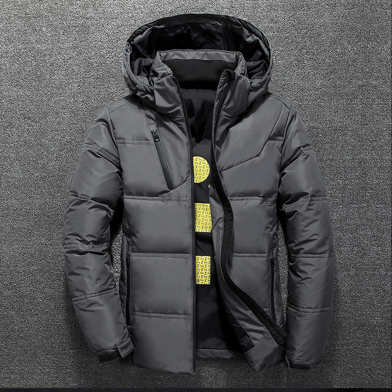 Winter Warm Men Jacket Coat Casual Autumn Stand Collar Puffer Thick Hat White Duck Parka Male Men's Winter Down Jacket With Hood 9