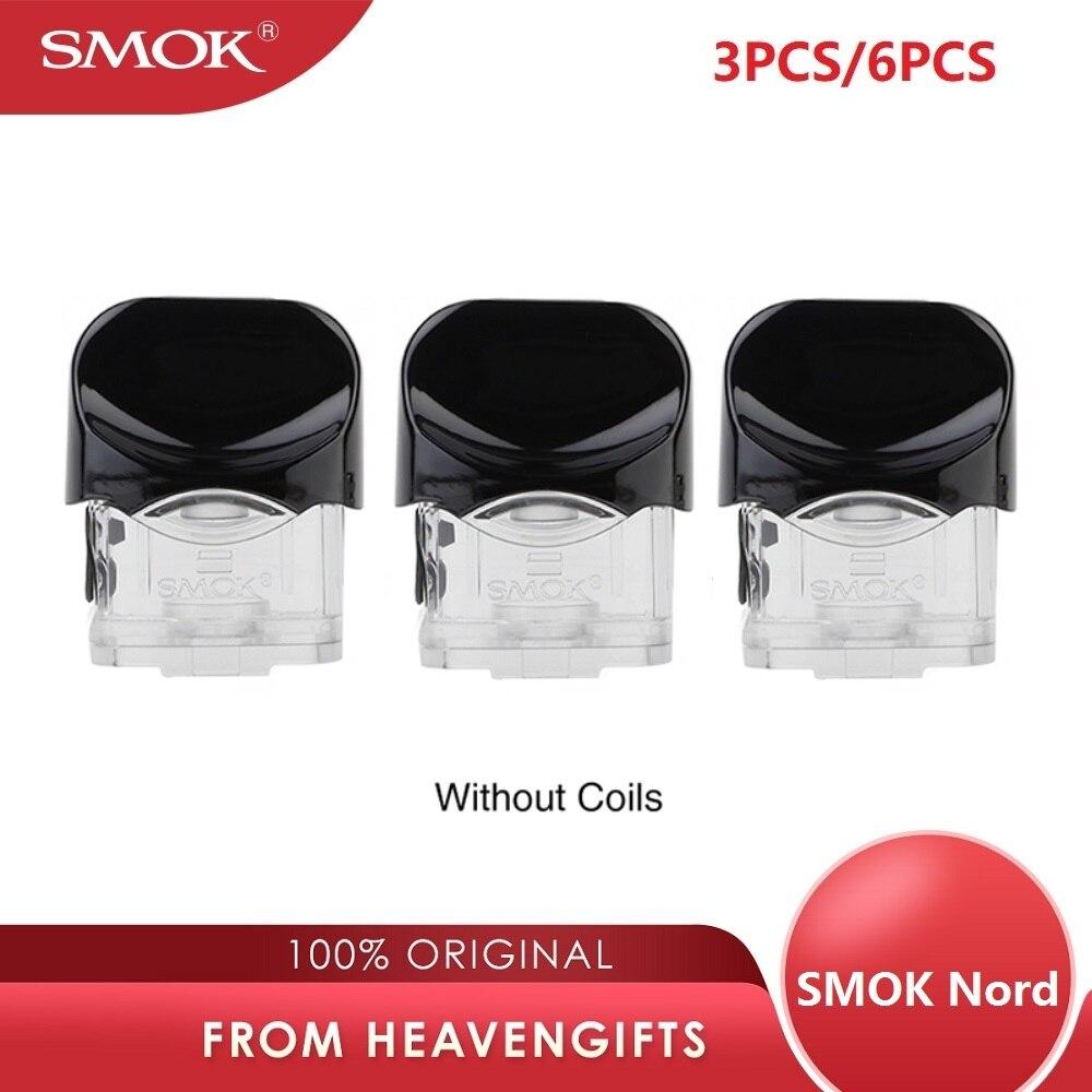 3 pcs/6 pcs Original SMOK NORD Pod Cartucho 2 ml/ml Capacidade 3 sem Bobina Versão para kit sistema pod Nord vs SMOK SMOK Novo