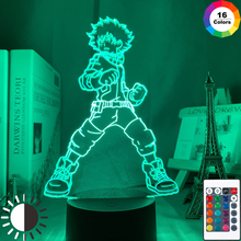 3DLed Night Light Lamp Izuku Midoriya Figure Kids Bedroom Nightlight Led Touch Sensor Room Lighting Anime My Hero Academia Gift