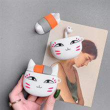 For AirPod 2 Case 3D Cute Natsume Yuujinchou Cat Cartoon Soft Silicone Earphone Cases Apple Airpods Cover Funda