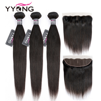 Yyong Straight Hair Bundles With Frontal Remy Human Hair Bundles With Closure Peruvian Hair Weave Bundles With Closure yyong straight hair bundles with closure brazilian hair weave 3 bundles remy human hair bundles with closure hair extension
