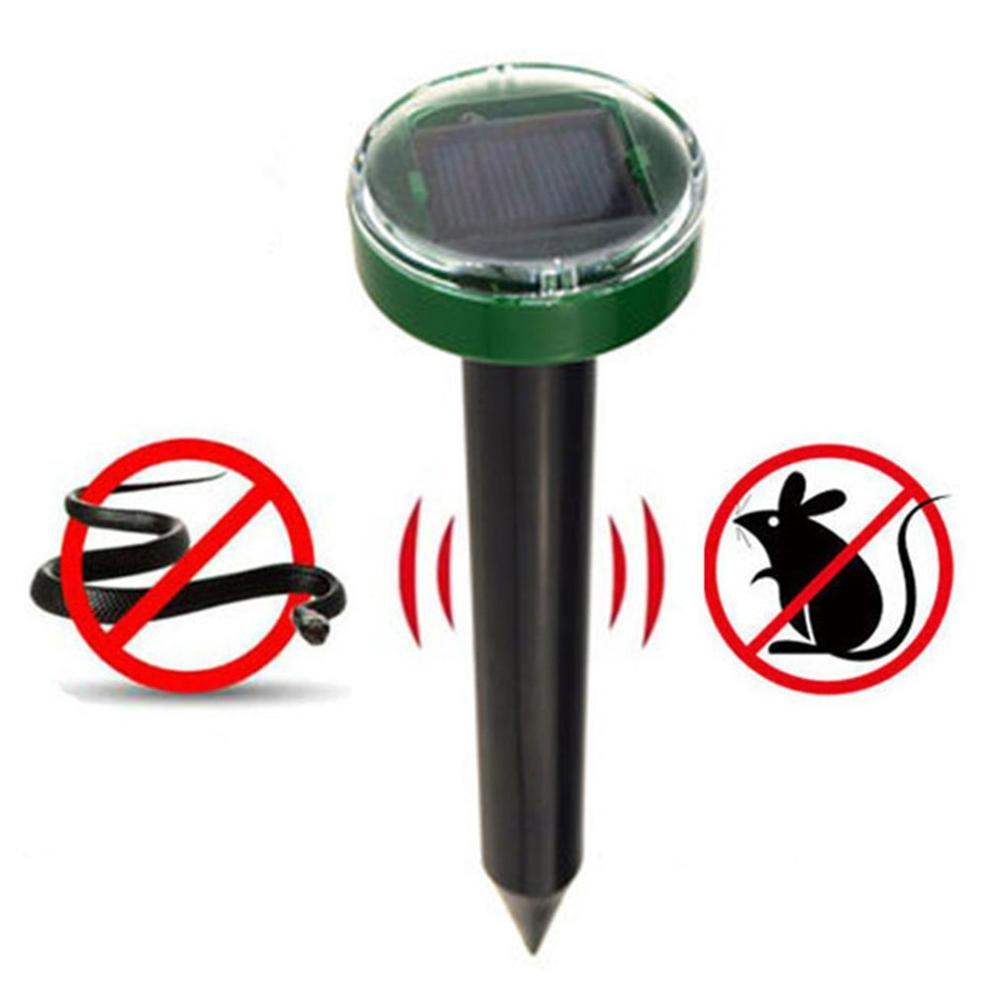 No-Poison No-Chemical Universal Household Garden Yard Ultrasonic Solar Powered Mouse Pest Rodent Repeller