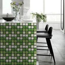 10 шт/лот 3d мозаичные наклейки для плитки на стену самоклеящиеся