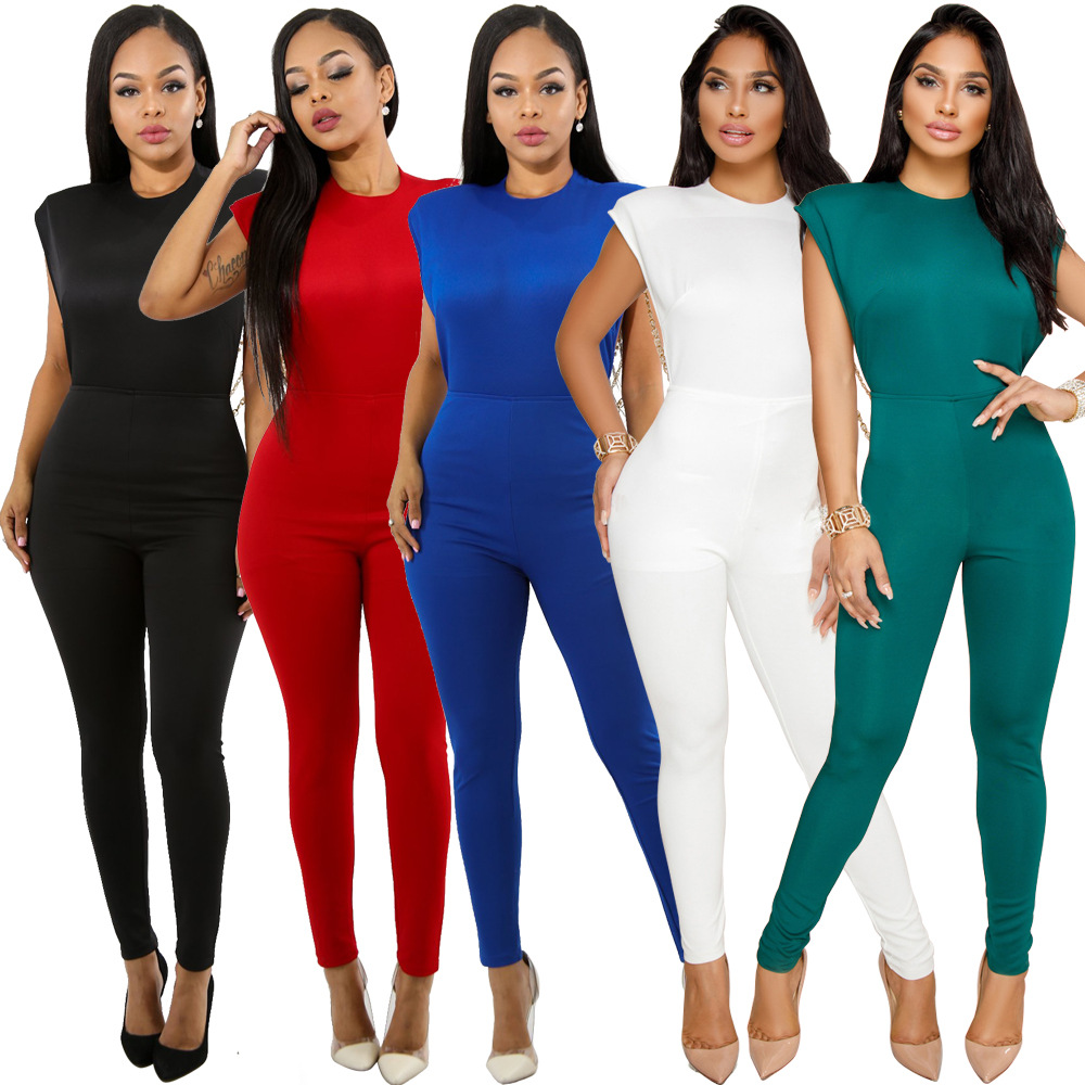 XM6044 Europe And America Nightclub WOMEN'S Dress Sexy Fashion Pearl Chain New Style Fancy Onesie Jumpsuits