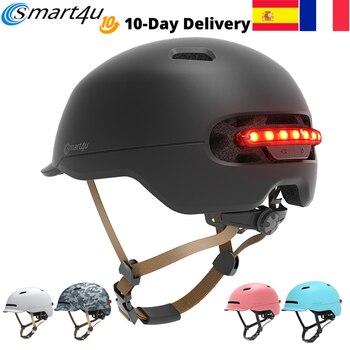 2020 ciclismo 7 leds luz da cauda inteligente bicicleta adulto capacete da criança capacete de montanha estrada scooter para xiaomi esporte capacete 4 cores 1