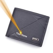 New Men Business Leather Bifold Wallet Brand Luxury Short Slim Male Purses Money Credit Card Thin Hombre Billetera Portafoglio