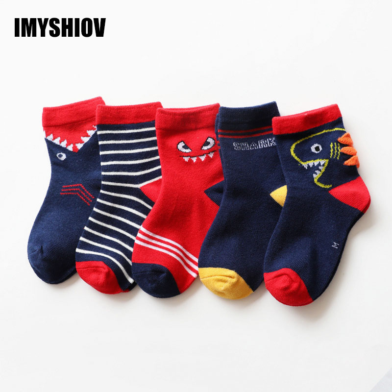 5Pairs/Lot Cotton Kids Socks Winter Warm Girls Boys Socks For Children Cartoon Animal Designer Toddler Baby Girl Boy Infant Sock
