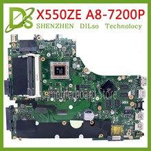 KEFU X550ZA per ASUS VM590Z X550ZE X550ZA scheda madre del computer portatile X550ZA EDP/LVDS interfaccia Mainboard A8-7200P Test CPU