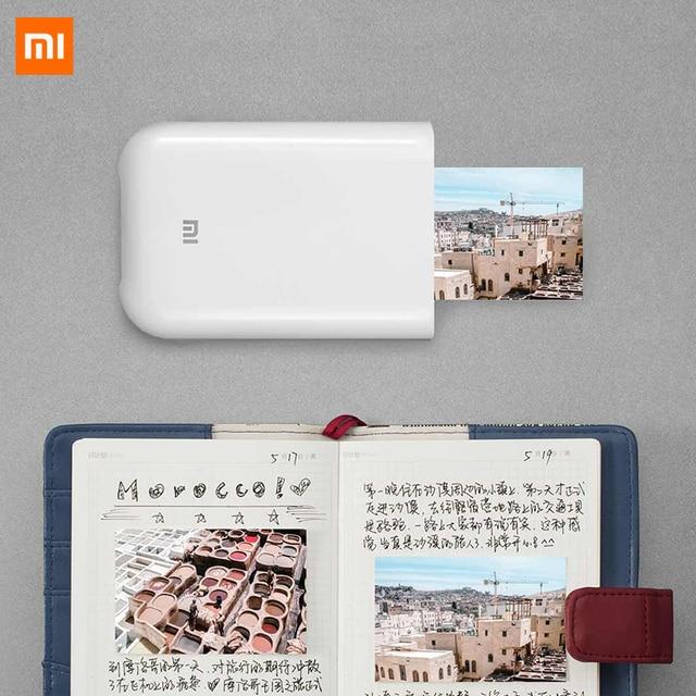 """Impressora portátil xiaomi foto de 300dpi, mini impressora de fotos, de bolso, com compartilhamento """"faça você mesmo"""", 500mah, impressora de fotos, funciona com aplicativo mihome,"""