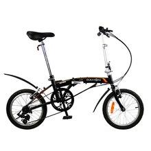 Bicicleta dobrável dahon bat630 gemini uno glo alta quadro de aço carbono com fender 16 Polegada 3 velocidade da cidade comutando portátil