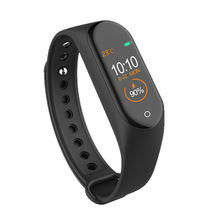 M4 Smart Band Wristband Health Heart Rate Blood Pressure Monitor Pedometer Sports Bracelet black