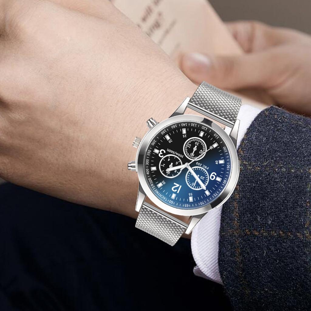 Luxury Watch Sports Wear Business Men's Outdoor Quartz Stainless Steel Dial Casual Bracelet Watch Montre Femme