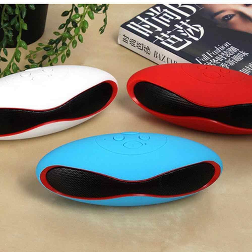 Rugby Mini haut-parleur extérieur Portable sans fil haut-parleur Support sonore TF USB AUX-blanc