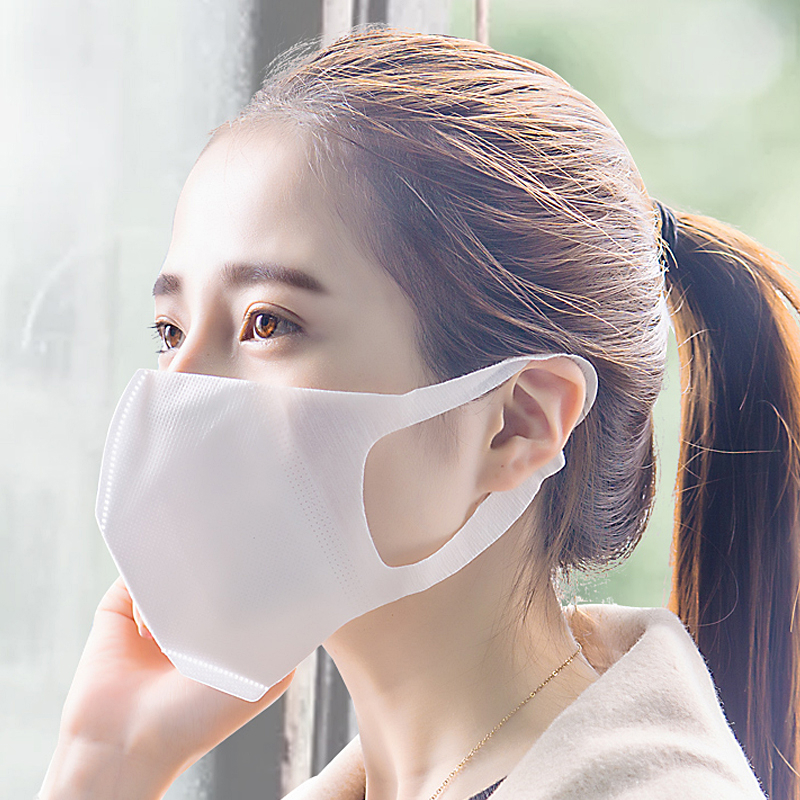 Image 5 - 50pcs Disposable 3 Layer Filter Mouth Face Mask Dust PM2.5 Masks Breathable Anti dust Virus Flu Masks Kid/Adult Size    -