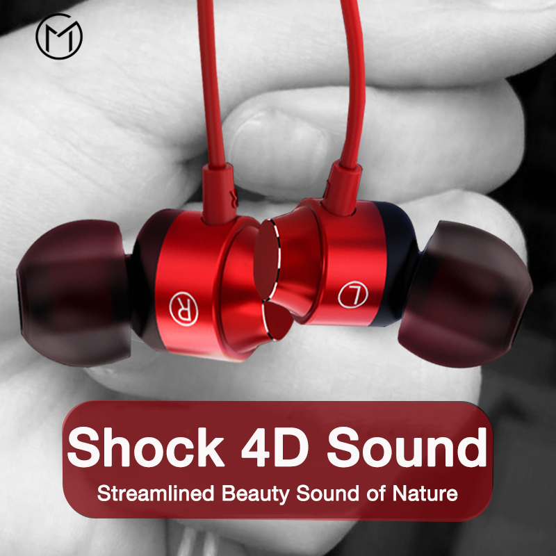 Wired Earphones In ear Super Bass Sound Earbud Headphone with Mic for Phones Samsung Xiaomi Sport Stereo Headphones
