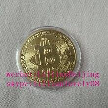 Золотой цвет Биткоин медаль подарок btc медаль
