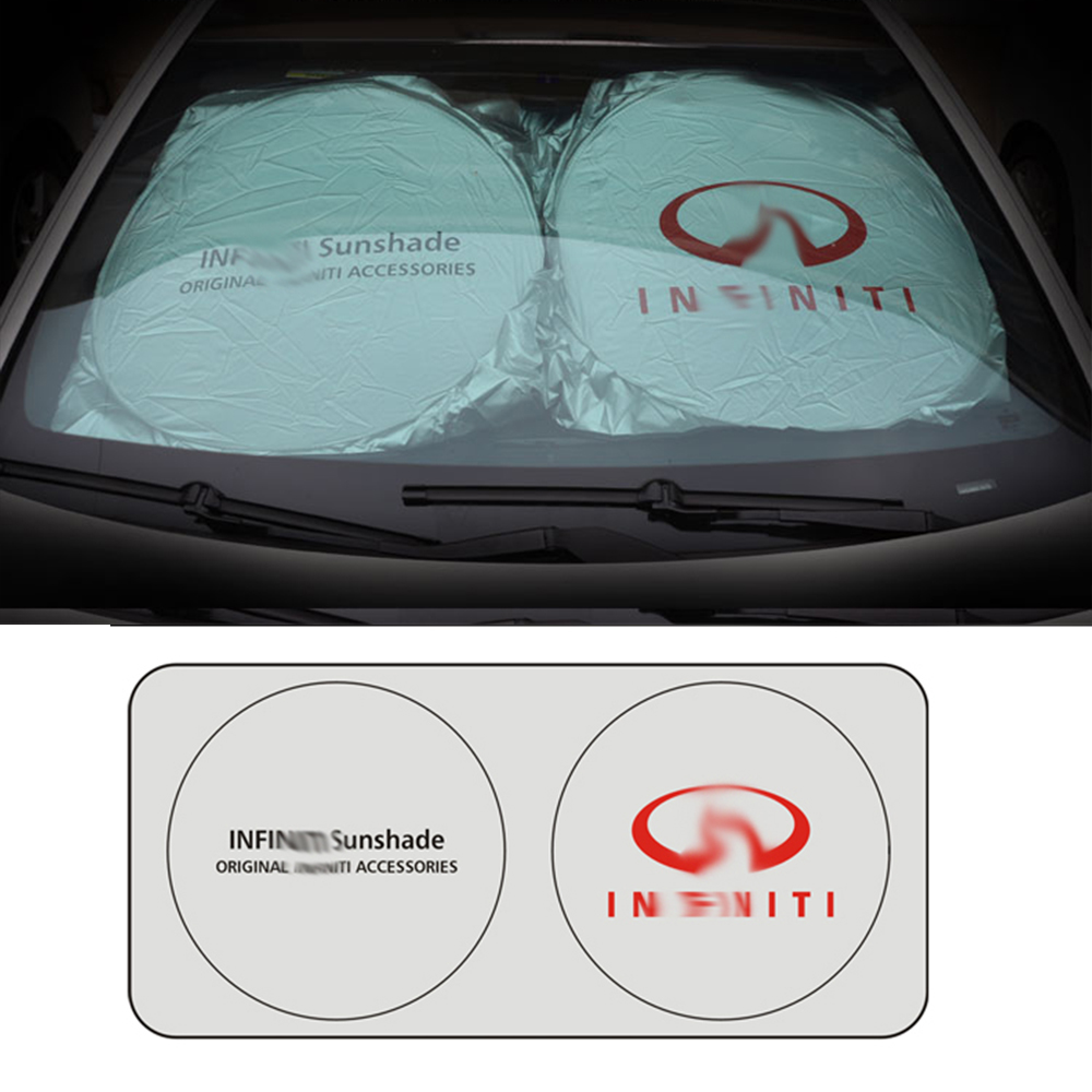 Car Logo Front Window Sunshade Windshield Insulation Board For Infiniti Q50 Q60 Q70 FX35 G35 G37 QX70 M35 FX37 QX56 QX60 EX35